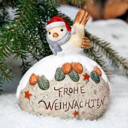 Weihnachtsmeise auf Stein