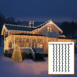 LED Lichtsystem Lichtervorhang, 100x200 cm, schwarz
