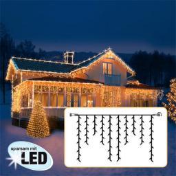 LED Lichtsystem Eiszapfenvorhang, 200x100 cm, schwarz