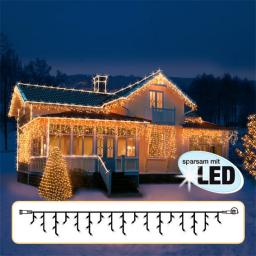 LED Lichtsystem Eiszapfenvorhang, 300x40 cm, schwarz