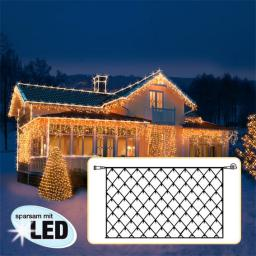 LED Lichtsystem Lichternetz, 200x100 cm, schwarz