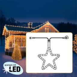 Star LED Lichtsystem Stern, 55 cm, transparent