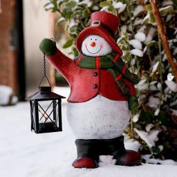 Schneemann Olli mit Laterne