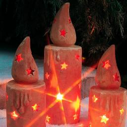 Terracotta-Kerze, groß