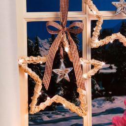 LED-Fensterdeko Landhaus-Weihnacht