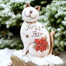 Weihnachtskatze Frohes Fest