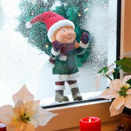 Weihnachts-Fenstergucker Niki