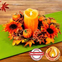 Herbstkranz Lichterzauber inkl. LED-Echtwachskerze