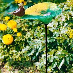 Glas-Vogelbad Paradiso