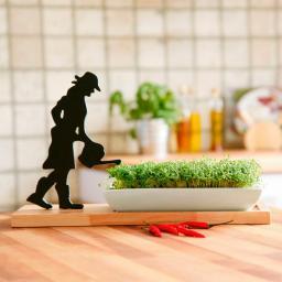 (Kräuter-)Pflanztablett Gärtnerin