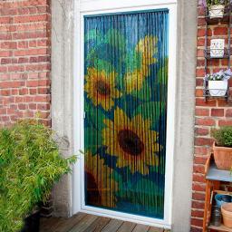 Bambus-Vorhang Sonnenblume