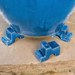 Kübelfuß, Treppenfuß königsblau