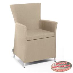 Outdoor Sessel Sunflower mit Armlehnen, beige