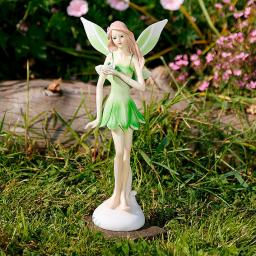 Gartenfigur Flower Fairy Silvana, stehend