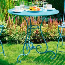 Bistro Tisch hellblau