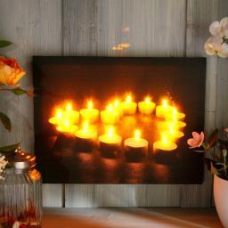 LED-Bild Flammendes Herz