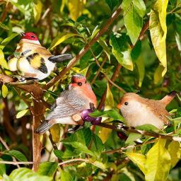 Gartendeko Vögel mit Klammer, 3er-Set