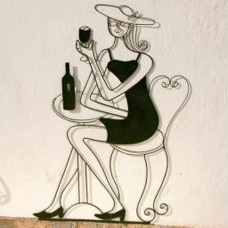Rankhilfe Garten-Skulptur Bistro de Paris