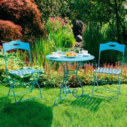 Bistro-Sitzgruppe, 2 Stühle + Tisch