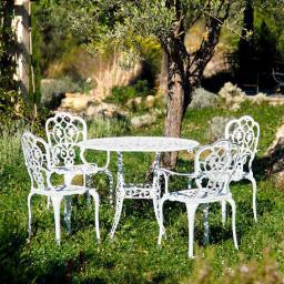 Sitzgruppe Chateau de Loire, 4 Stühle + Tisch