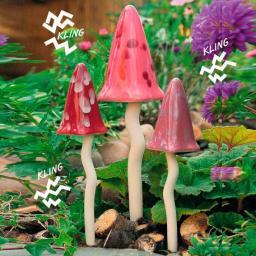 Windspiel Pilze Zauberwald Frühling, 3er-Set