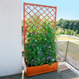 Sichtschutz-Rankgitter Guernsey mit Pflanzkasten