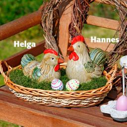 Landhaus-Osterhühner, 2er-Set
