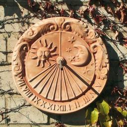 Terracotta-Sonnenuhr Roma