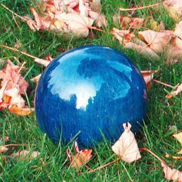 Keramik-Dekokugel blau 17 cm