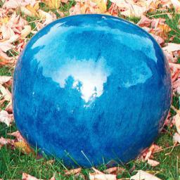 Keramik-Dekokugel blau 30 cm