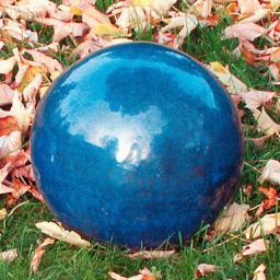 Keramik-Dekokugel blau 22 cm