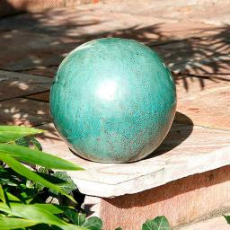 Keramik-Dekokugel jadegrün 22 cm
