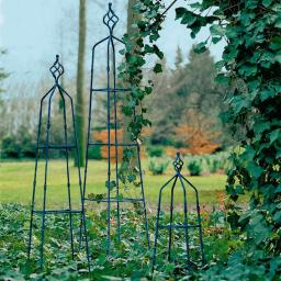 Rank-Obelisken Windsor Estate, 3er-Set, antik-blau