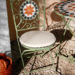 Sitzkissen für Stühle und Bänke, rund