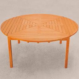 TEAK-Drei-in-Eins-Tisch (rund, oval & quadratisch)