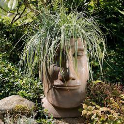 Terracotta-Pflanzgefäß Osterinselkopf