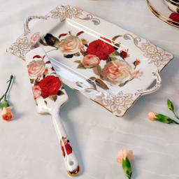 Kuchenplatte mit -heber Rosenromantik