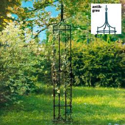 Rankhilfe Obelisk Empire, antik-grau