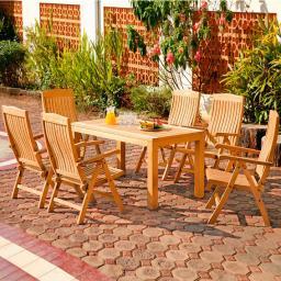 Sitzgruppe Wimbledon Park, groß (6 Sessel 1 Tisch)