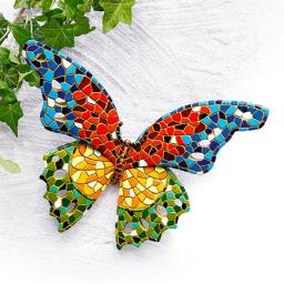 Gartendeko Mosaik-Schmetterling