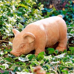 Terracotta-Figur Ferkelchen Schweini