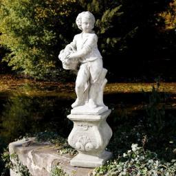 Vierjahreszeiten Gartenfigur Sommer auf Säule