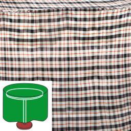 Tisch-Schutzhülle, beige, rund, groß