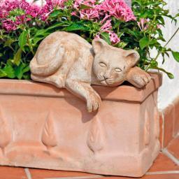 Terracotta-Katze Topftiger