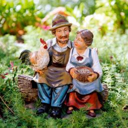 Gartenfigur Bauernpaar Johannes & Adele
