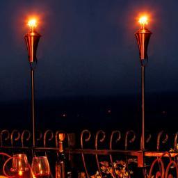 Ölfackel für Balkongeländer, 2er-Set