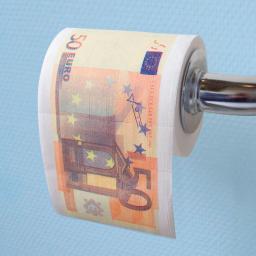 Toilettenpapier 50 Euro-Schein