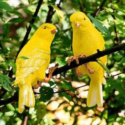 Gartenfiguren Kanarienvogel als 2er Set