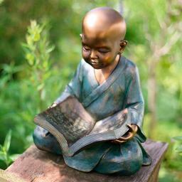 Gartenfigur Lesender Mönch