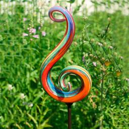 Glaskunst-Stecker Symphonie inkl. Eisenstab